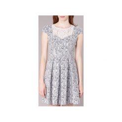 Sukienki krótkie Naf Naf  ECORSAIRE. Białe sukienki mini marki NAF NAF, z krótkim rękawem. Za 407,20 zł.