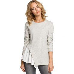 Bluzki, topy, tuniki: Dwuwarstwowa bluzka z asymetrią - popielata