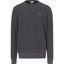 Lacoste - Sweter męski, niebieski. Szare swetry klasyczne męskie marki Lacoste, z bawełny. Za 499,95 zł.
