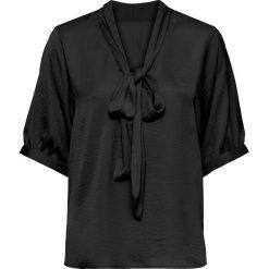 Bluzki damskie: Bluzka oversize z krawatką bonprix czarny