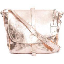 Torebki klasyczne damskie: Skórzana torebka w kolorze różowozłotym – 24 x 20 x 9 cm