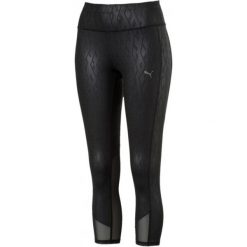 Puma Legginsy Sportowe Damskie Always On Graphic 3/4 Tight Black E Xl. Czarne legginsy damskie do fitnessu marki Puma, xl. Za 199,00 zł.