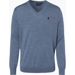 Polo Ralph Lauren - Męski sweter z wełny merino – Slim Fit, beżowy. Brązowe swetry klasyczne męskie marki Polo Ralph Lauren, m, z dzianiny, polo. Za 499,95 zł.