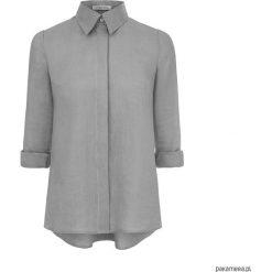 Koszula lniana szara z rozszerzanym tyłem. Białe koszule męskie na spinki marki Pakamera. Za 390,00 zł.