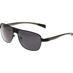 """Okulary przeciwsłoneczne męskie: Okulary męskie """"Hardwell"""" w kolorze czarno-szarym"""