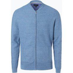 Swetry rozpinane męskie: Nils Sundström – Kardigan męski, niebieski