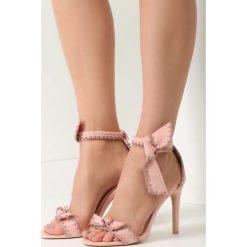 Różowe Sandały Serendipity. Czerwone sandały damskie marki vices, na wysokim obcasie. Za 79,99 zł.
