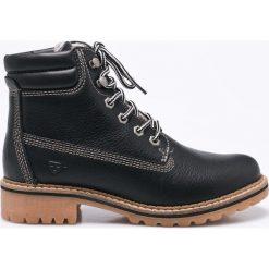 Tamaris - Botki. Szare buty zimowe damskie marki Tamaris, z materiału, na sznurówki. W wyprzedaży za 219,90 zł.