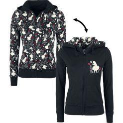 Bluzy rozpinane damskie: Alicja w Krainie Czarów Black Curiouser Bluza z kapturem rozpinana damska czarny