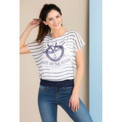 Bluzki asymetryczne: Marynarska bluzka w paski