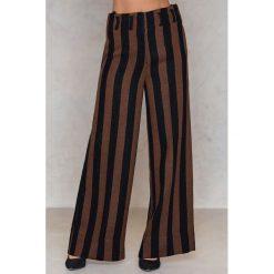 Spodnie z wysokim stanem: By Malene Birger Spodnie Kalpana – Black,Brown,Multicolor