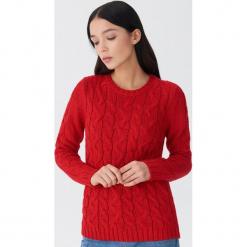 Sweter z warkoczami - Czerwony. Niebieskie swetry klasyczne damskie marki House, m. Za 79,99 zł.