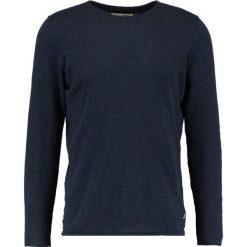 Swetry klasyczne męskie: TOM TAILOR DENIM CREW ROLLED EDGES Sweter night sky blue