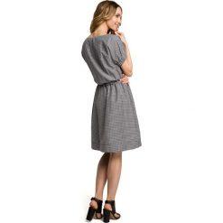 CATALIN Sukienka w krateczkę - czarna. Czarne sukienki letnie Moe, s, w kratkę, z gumy. Za 159,90 zł.