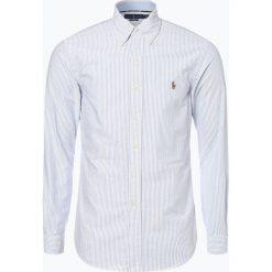 Polo Ralph Lauren - Koszula męska – Slim Fit, niebieski. Niebieskie koszule męskie na spinki Polo Ralph Lauren, l, w paski, z bawełny, polo. Za 499,95 zł.