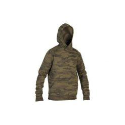 Bluza myśliwska z kapturem SG500 Cam Halftone. Zielone bluzy męskie rozpinane marki Pull & Bear, z napisami. Za 129,99 zł.