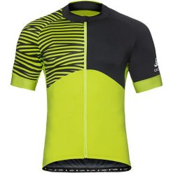 Odlo Koszulka rowerowa Stand-up collar Umbrail Ceramicool czarno-żółta r. L (411452). Czarne odzież rowerowa męska marki Odlo, l. Za 231,94 zł.