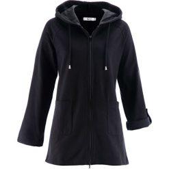 Długa bluza rozpinana, długi rękaw bonprix czarny. Czarne bluzy rozpinane damskie marki bonprix, z długim rękawem, długie. Za 109,99 zł.