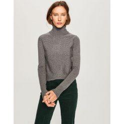 Sweter z golfem - Szary. Szare golfy damskie Reserved, l. Za 69,99 zł.
