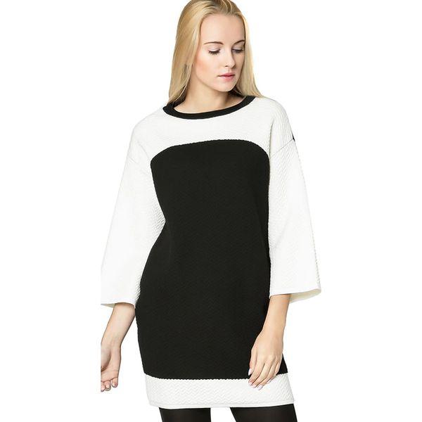34a29863bb Sukienka w kolorze czarno-białym - Czarne sukienki damskie Deni Cler ...
