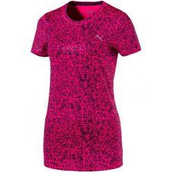 Puma Koszulka Essential Tee - Graphic Peacoat S. Czerwone bluzki sportowe damskie marki Puma, s. W wyprzedaży za 99,00 zł.