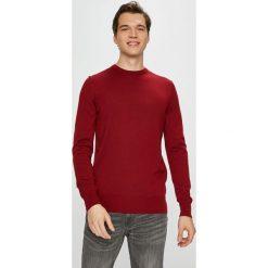 Tommy Hilfiger Tailored - Sweter. Brązowe swetry klasyczne męskie Tommy Hilfiger Tailored, l, z dzianiny, z okrągłym kołnierzem. Za 399,90 zł.