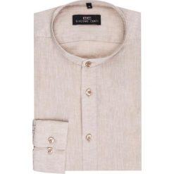 Koszula SIMONE KLER000005. Brązowe koszule męskie na spinki marki FORCLAZ, m, z materiału, z długim rękawem. Za 169,00 zł.