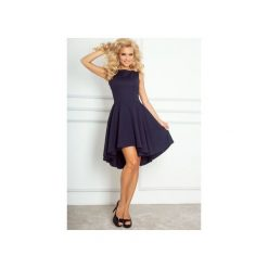 Sukienki: SUKIENKA ASYMETRYCZNA GRANATOWA