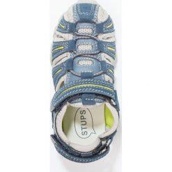 STUPS Sandały trekkingowe dark jeans. Niebieskie sandały męskie skórzane STUPS, z otwartym noskiem. W wyprzedaży za 132,30 zł.