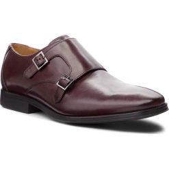 Półbuty CLARKS - Gilman Step 261362167 Burgundy Leather. Czerwone derby męskie Clarks, z materiału. Za 399,00 zł.