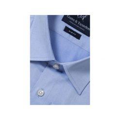 KOSZULA BLUE CLASSIC. Białe koszule męskie na spinki marki Guns&tuxedos, m, z kwadratowym dekoltem, z krótkim rękawem. Za 149,99 zł.