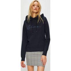 Vero Moda - Bluza Voyage. Czarne bluzy z kapturem damskie Vero Moda, l, z aplikacjami, z bawełny. W wyprzedaży za 119,90 zł.