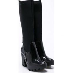 Calvin Klein Jeans - Kozaki Sintra. Czarne botki damskie lity Calvin Klein Jeans, z jeansu, z okrągłym noskiem. W wyprzedaży za 629,90 zł.