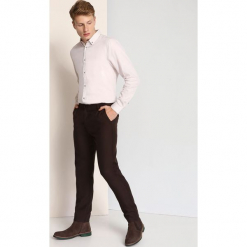 KOSZULA DŁUGI RĘKAW MĘSKA. Szare koszule męskie na spinki Top Secret, na jesień, m, z długim rękawem. Za 24,99 zł.