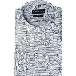 Koszula SIMONE SLIM KDWS000239. Białe koszule męskie na spinki Giacomo Conti, na jesień, m, z nadrukiem, z bawełny, button down. Za 199,00 zł.