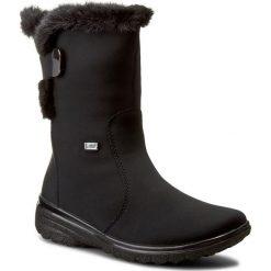 Botki RIEKER - Z7079-01 Black. Czarne buty zimowe damskie marki Rieker, z materiału. W wyprzedaży za 209,00 zł.