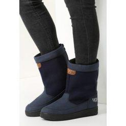 Granatowe Śniegowce Morning Glory. Niebieskie buty zimowe damskie vices. Za 79,99 zł.
