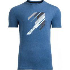 T-shirt męski TSM613 - granatowy melanż - Outhorn. Niebieskie t-shirty męskie Outhorn, na lato, m, melanż, z bawełny. W wyprzedaży za 29,99 zł.