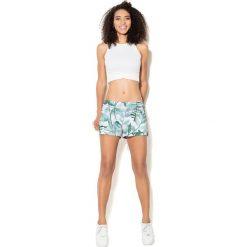 Colour Pleasure Spodnie damskie CP-020 278 biało-zielone r. M/L. Fioletowe spodnie sportowe damskie marki Colour pleasure, uniwersalny. Za 72,34 zł.