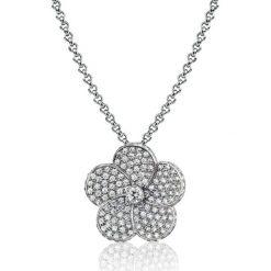 Naszyjniki damskie: Piękny Naszyjnik – złoto białe 750, Brylant 0,14ct…