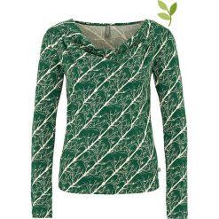 """Bluzki asymetryczne: Koszulka """"Jade"""" w kolorze zielonym"""