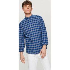 Koszula w kratę - Granatowy. Niebieskie koszule męskie marki Reserved. W wyprzedaży za 39,99 zł.