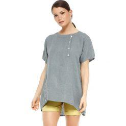 """T-shirty damskie: Lniana koszulka """"Rosa"""" w kolorze szarym"""