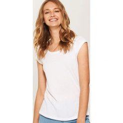 T-shirt basic - Biały. Niebieskie t-shirty męskie marki House, m. Za 19,99 zł.