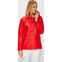 Only - Płaszcz przeciwdeszczowy. Czerwone płaszcze damskie ONLY, l, z materiału. Za 169,90 zł.
