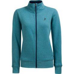 Bluza damska BLD610 - mięta melanż - Outhorn. Brązowe bluzy rozpinane damskie marki Outhorn, na lato, melanż, z bawełny. W wyprzedaży za 49,99 zł.