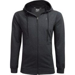 Bluza męska BLM601 - ciemny szary melanż - Outhorn. Szare bluzy męskie rozpinane Outhorn, m, melanż. W wyprzedaży za 79,99 zł.