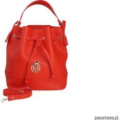 Torebki i plecaki damskie: MANZANA stylowy worek torebka – czerwony