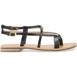 Rzymianki damskie: Płaskie, skórzane sandały
