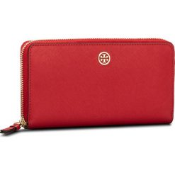 Portfele damskie: Duży Portfel Damski TORY BURCH – Robinson Zip Continental Wallet 45254 Poppy Orange/Cardamon 640